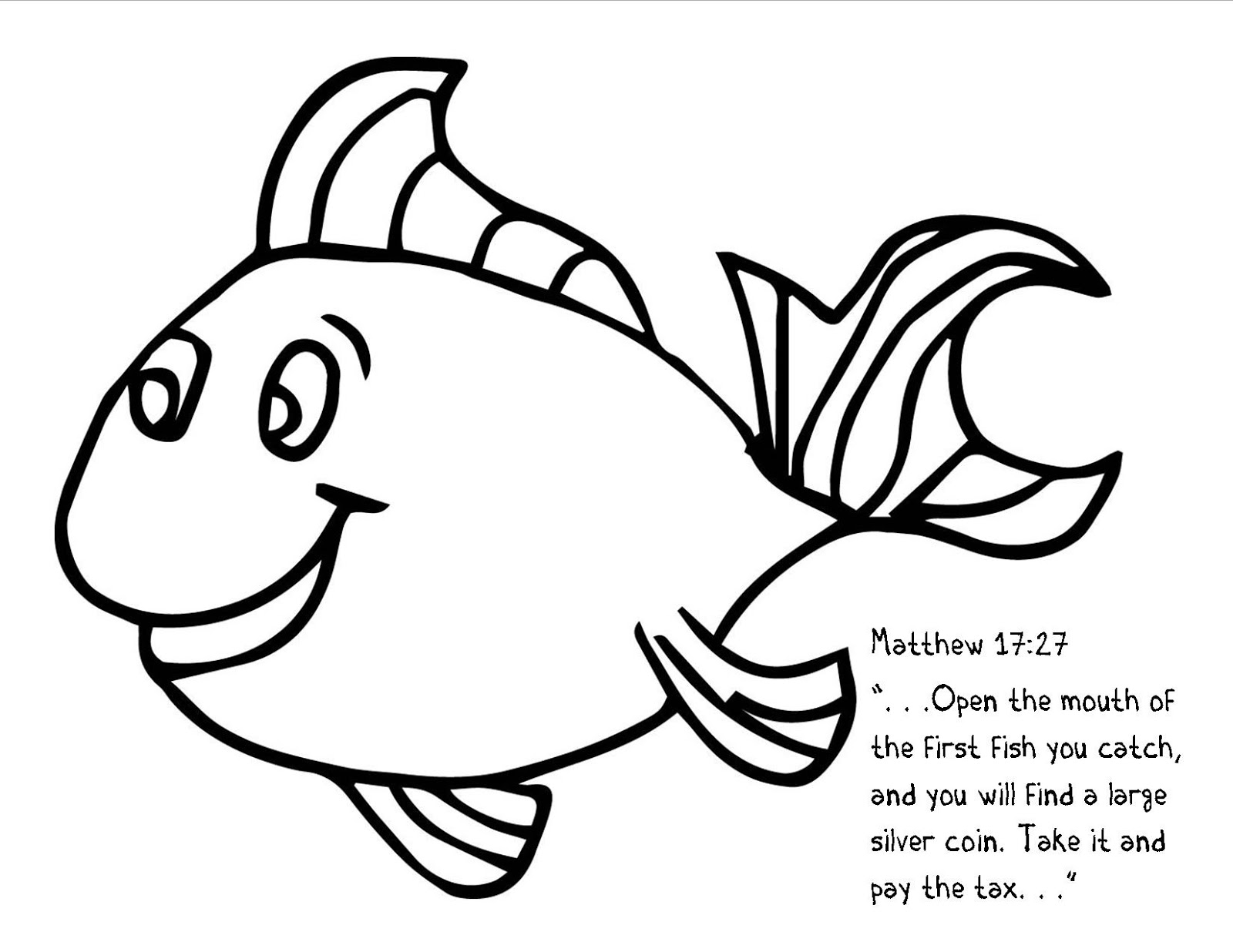 coin coloring pages - the confident journal sunday school craft coin in fish
