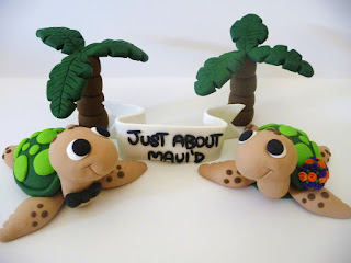 cute and unique turtles wedding cake topper