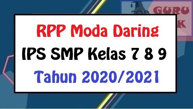 gambar contoh RPP daring IPS SMP
