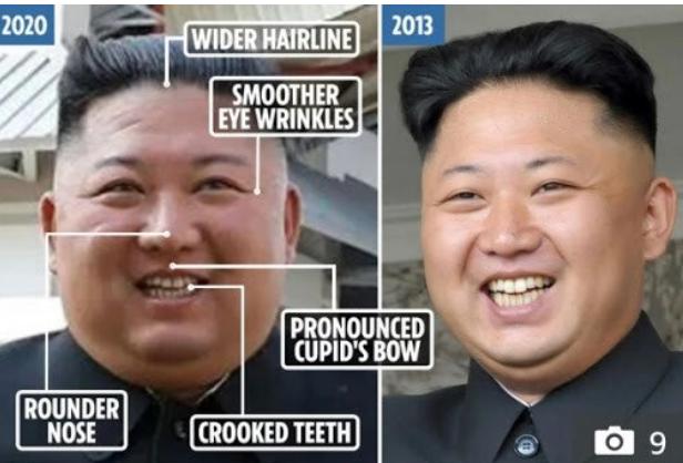 알고 보니 여태까지 공식 석상에 나왔던 김정은이 대역일 수도 있다고 현재 난리 난 게시글