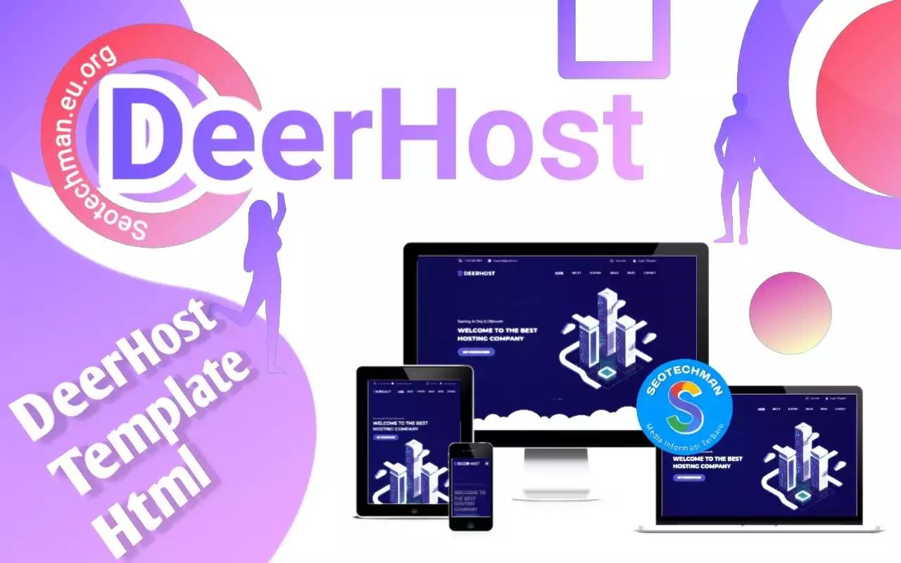 [Free Download] DeerHost - Template Web Hosting Bootstrap Gratis