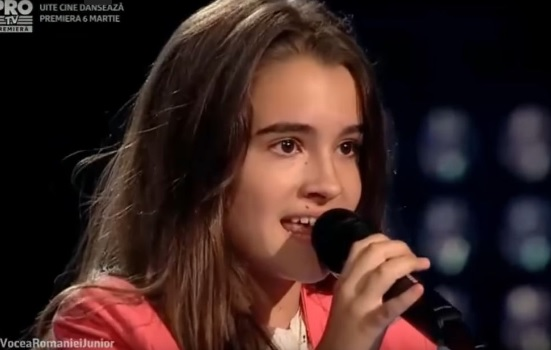 Voice of Romania - the little girl astonished the jury with Albanian song