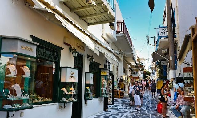 Compras em Chora, Mykonos