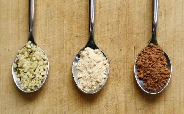 Superfoods in spoons