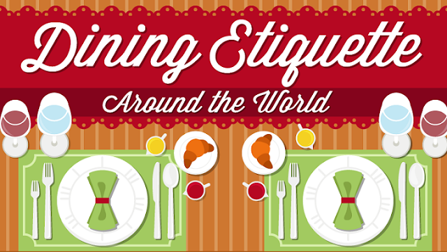 dining etiquette around the world infographic visualistan. Black Bedroom Furniture Sets. Home Design Ideas