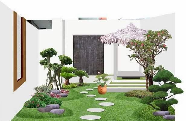 Contoh Desain Taman Rumah Minimalis Modern Idaman