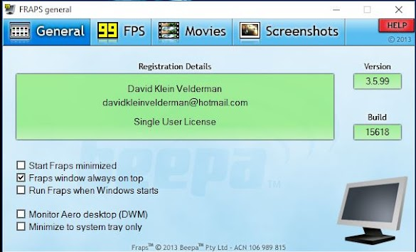Download Software Fraps Terbaru