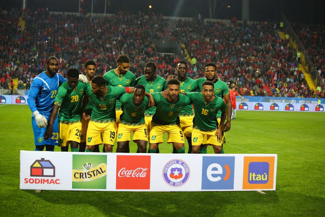 Formación de Jamaica ante Chile, amistoso disputado el 27 de mayo de 2016