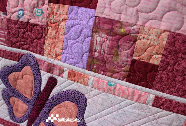 Double Jumble Butterfly quilting