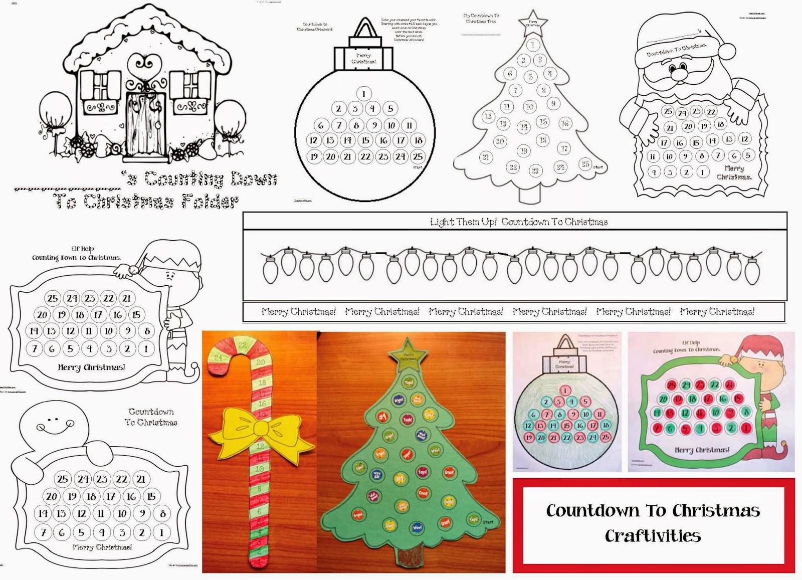 Classroom Freebies Countdown To Christmas Activities