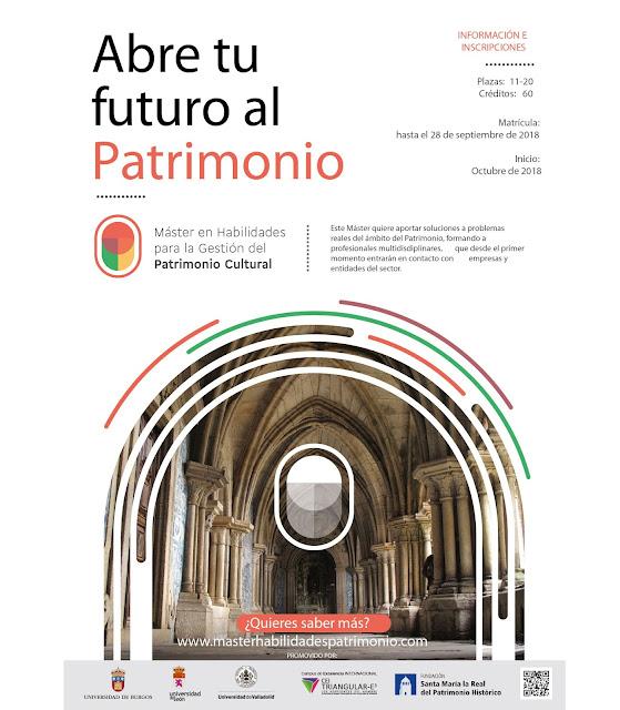 Master Interuniversitario en Habilidades para la Gestión de Patrimonio Cultural