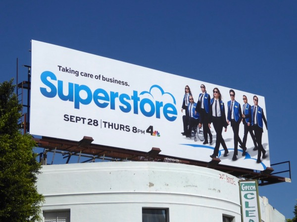 Superstore season 3 Reservoir Dogs spoof billboard