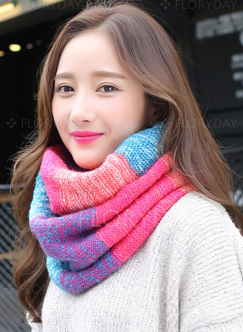 Elegant Color Block Scarves