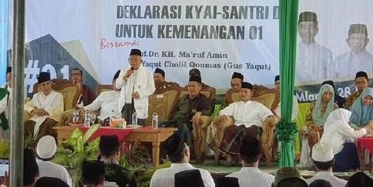 Pedas! Ma'ruf Sindir Prabowo Ambil Cawapres Bukan Hasil Ijtimak Ulama