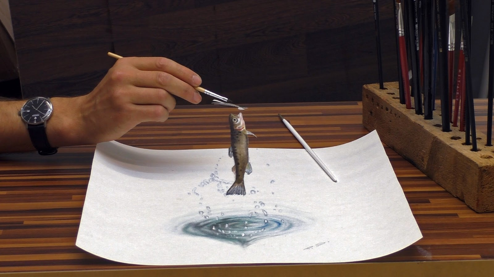 14-Jumping-Forelle-Stefan-Pabst-3D-Optical-Illusions-Drawings-and-Paintings-www-designstack-co