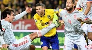 اسبانيا تتجنب الخساره بالتعادل الاجابي هدف لمثله امام منتخب السويد في التصفيات المؤهلة ليورو 2020