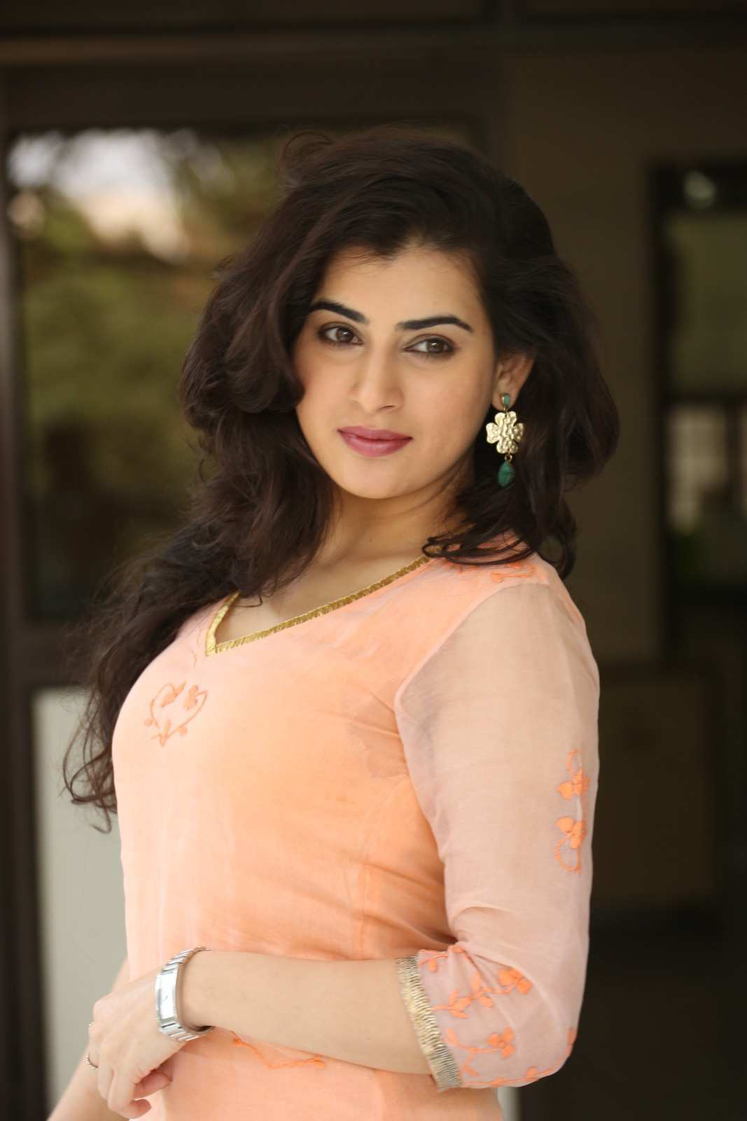 Archana Veda Hot Photos In Pink Dress