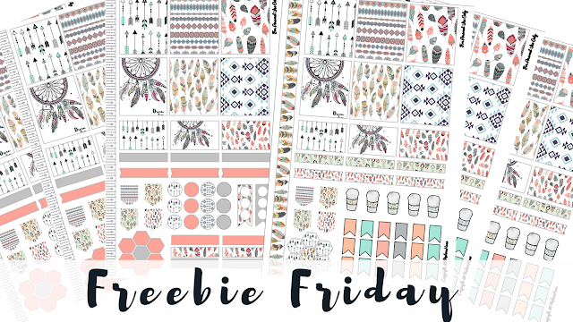 Free Printable Boho Chic Stickers for Mini Happy Planner or Personal Agenda