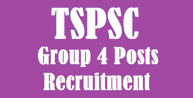 TS Jobs, TSPSC, TSPSC Recruitments, Group 4 Posts, Junior steno, Typist jobs, Junior Accountant Jobs