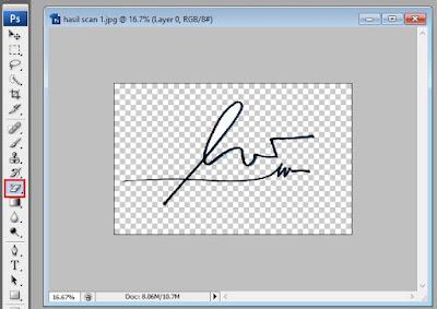 cara mengedit scan tanda tangan dengan photoshop