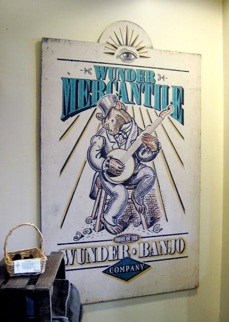 Wunder Mercantile Banjo Co. in museum in Frederick MD