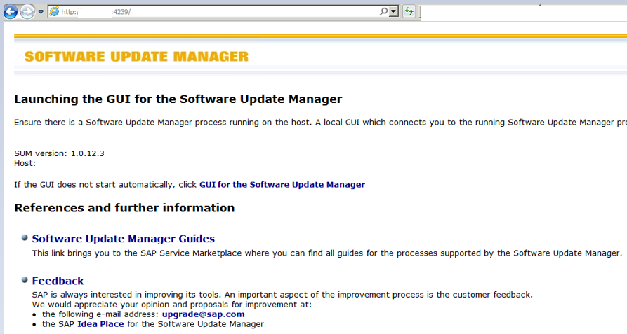 SAP Basis Tutorials: How to launch Software Update Manager