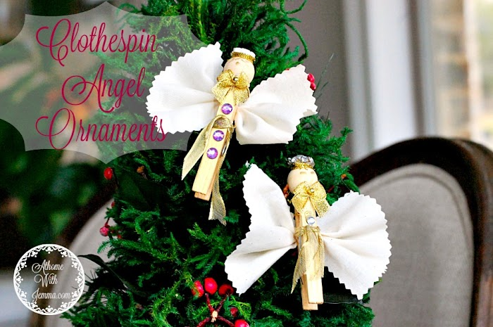 DIY Clothespin Christmas Angel Ornaments