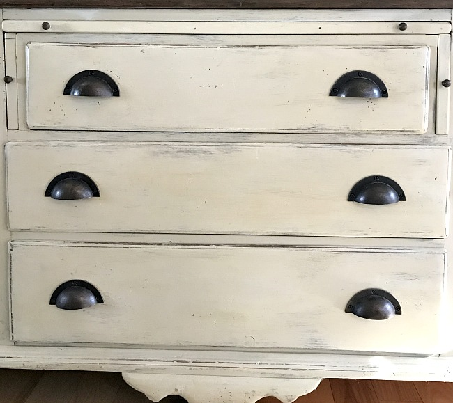 How to Add Drawer Labels to Renovated Painted Furniture