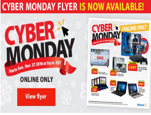 Walmart Cyber Monday Sneak Peek Flyer!