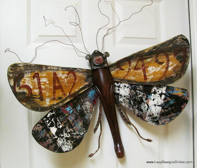 painted moth bug art