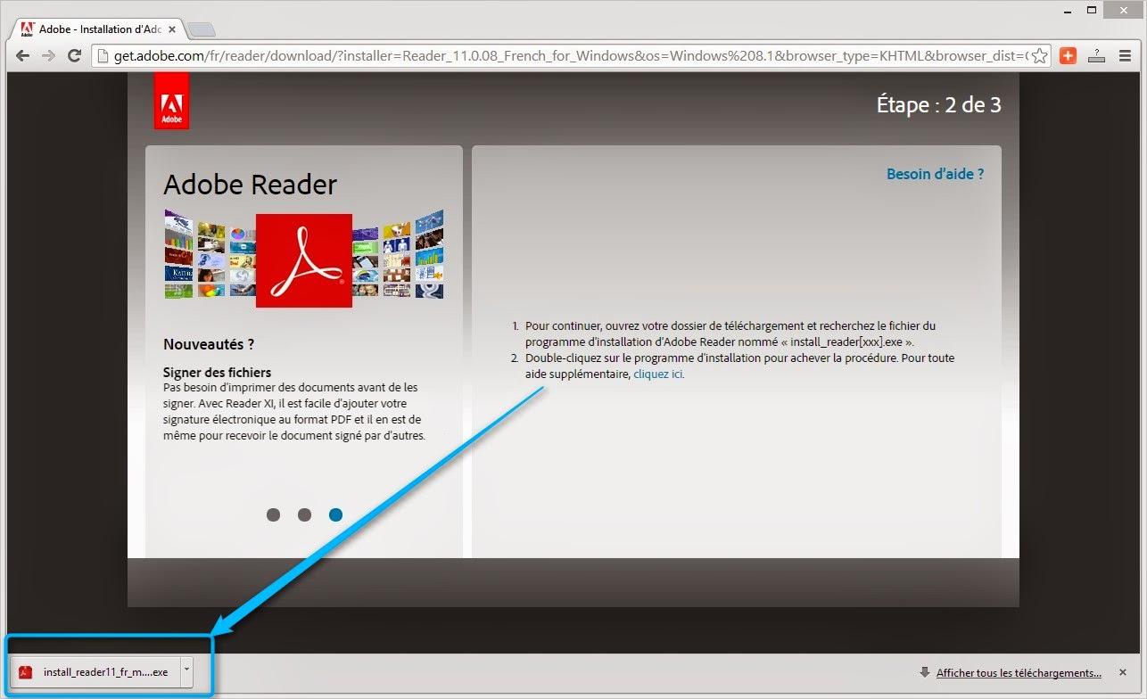 installez Adobe Reader xi pour Windows 8