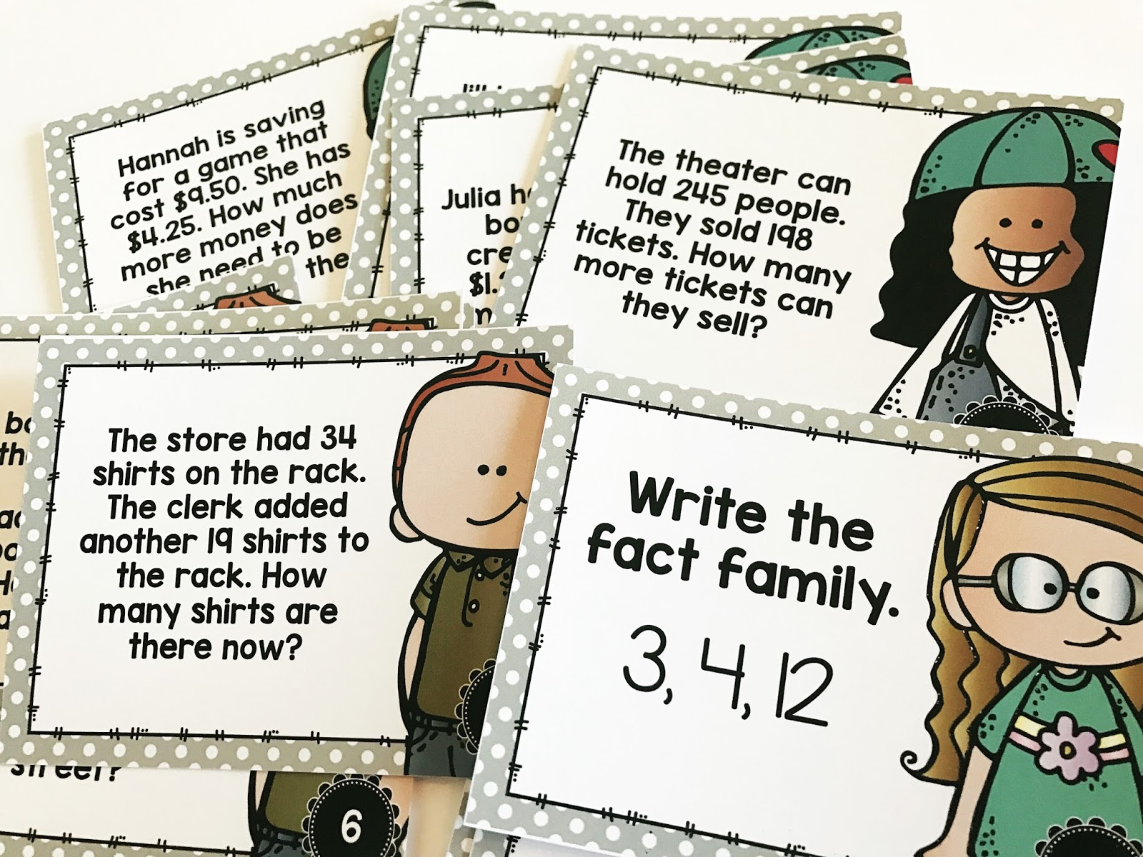 Task cards are a great way to have fun with test prep