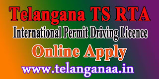 Telangana TS RTA International Driving Permit License Online Apply