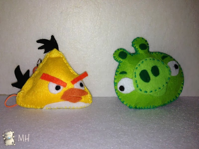 Angry Bird y Bad Pig en fieltro