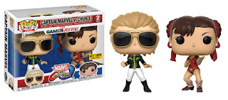 Pop! Games: Marvel vs. Capcom: Infinite Captain Marvel vs Chun-Li HOT TOPIC