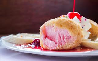 Resep Es Krim Goreng Saus Strawberry