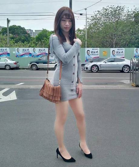Crossdresser in miniskirt
