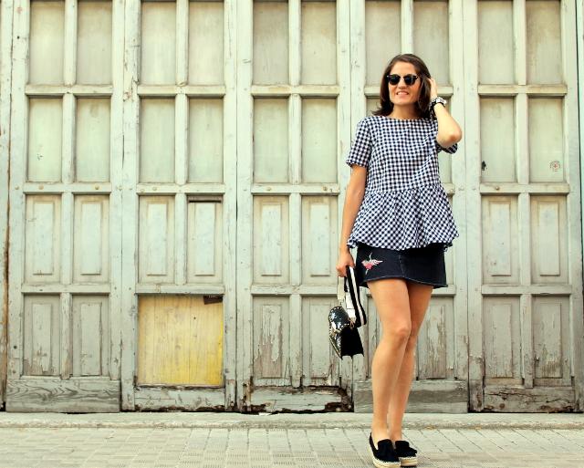 Vichy con minifalda