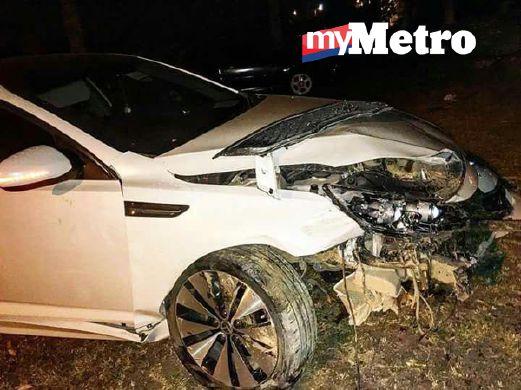 Yatt Hamzah Kemalangan, Trauma Kepala Terhantuk Stereng