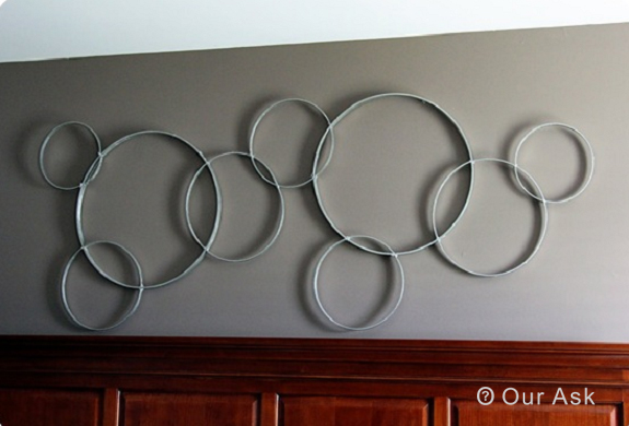 Stylish Metal Circle Wall Art