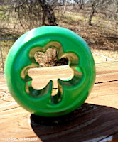 The #PlanetDog Orbee-Tuff Shamrock is durable, buoyant, bouncy, minty and Made in the USA!  #dogtoy #LapdogCreations ©LapdogCreations