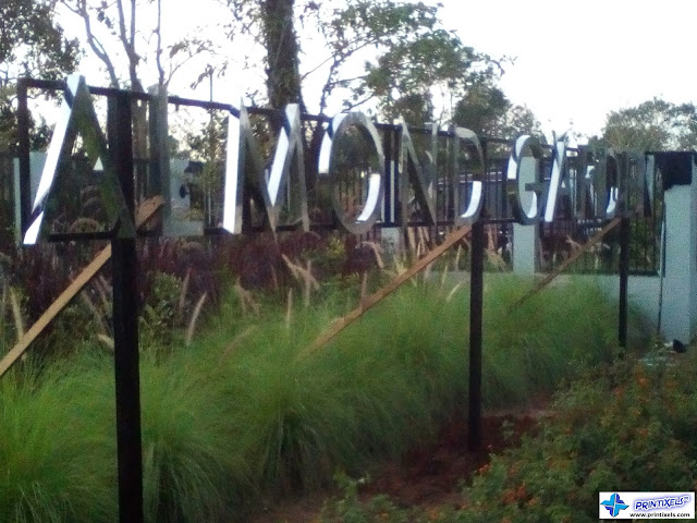 Stainless Steel Signage - Almond Garden, Alfonso, Cavite