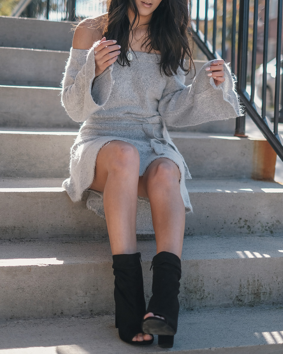 vici collection sweater dress