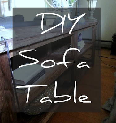 DIY Project - a cheap but stylish sofa table
