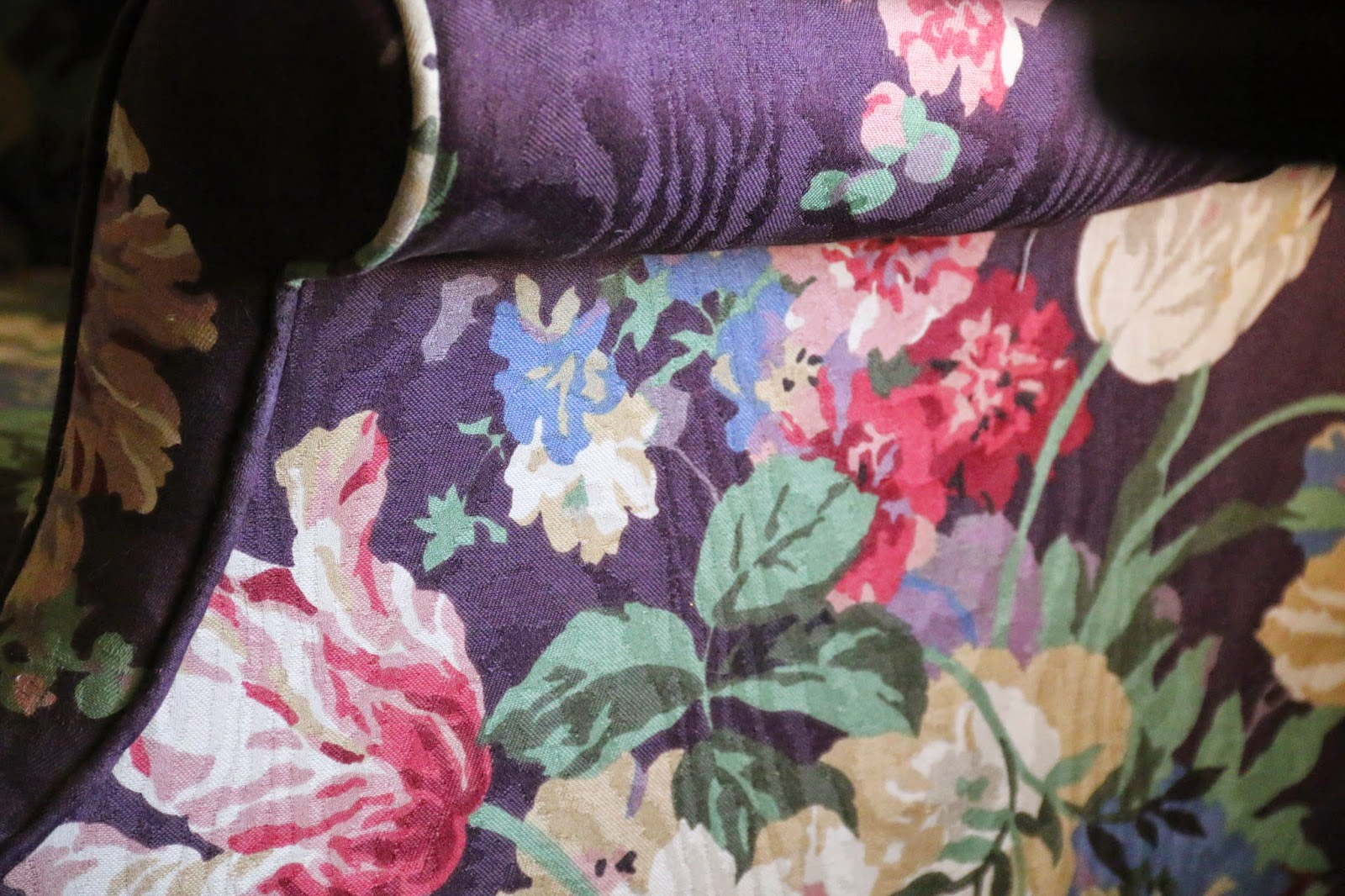plum chintz fabric