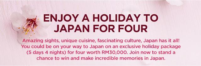 Menangi percutian 4 orang ke Japan bersama MAS Malaysia