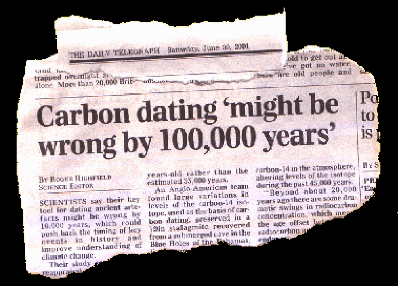 Images of unreliability of carbon dating