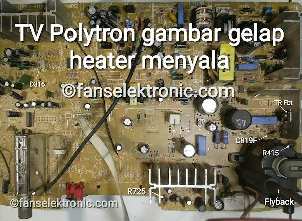 TV Polytron Gambar Gelap