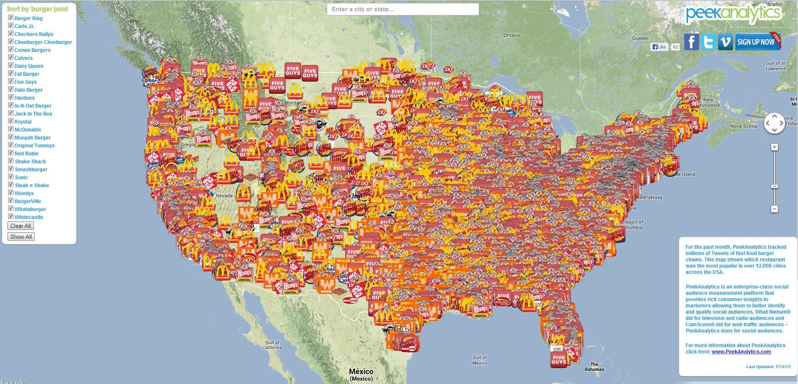 Landkartenblog Burger Joint Zeigt Das Fast Food Wunderland Usa