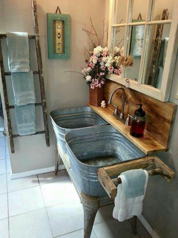 Extrêmement Récup et fait maison: des idées récup et déco: Des salles de bains  WZ74